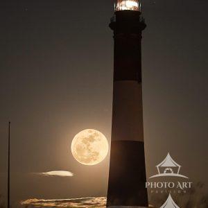 Moonrise at Fire Island Light
