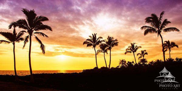 Sunset Panorama over Hawaii