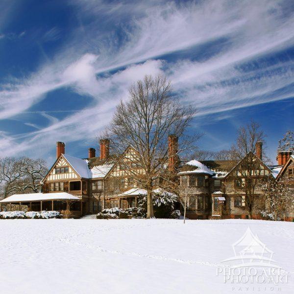 Beautiful Winter Scene of Bayard Cutting Arboretum