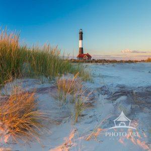 Fire Island Light thru the Grass Panorama