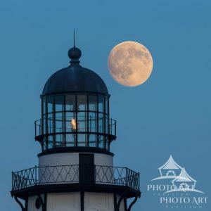 Montauk Lighthouse Lamproom Moonrise 2