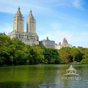 The iconic San Remo stands tall on Central Park West and above the lush greens surrounding The Lake.
