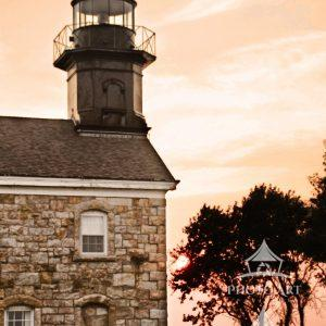 The Old Field Lighthouse overlooks the Long Island Sound. This image was captured on a brilliant
