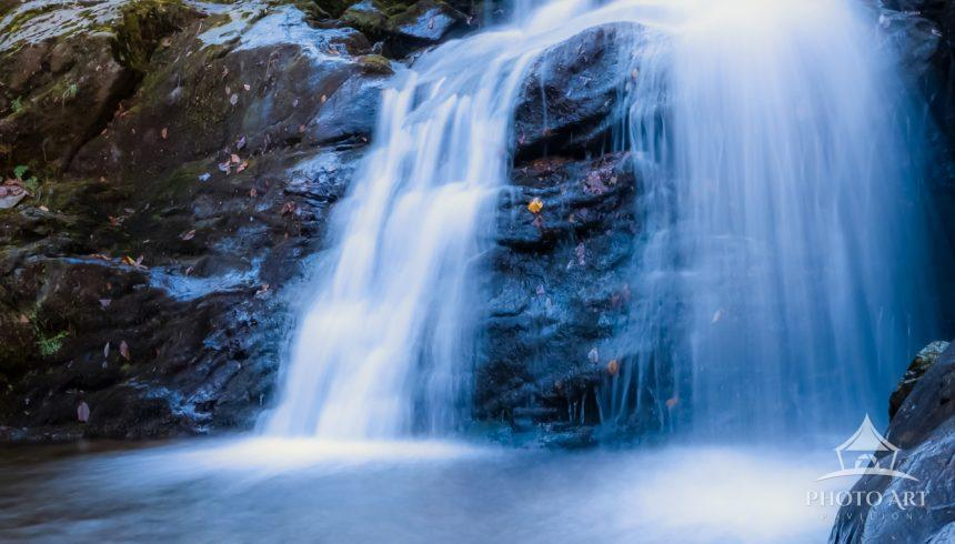Long exposure of Dark Hollow Falls. Captured from at the base of the falls.