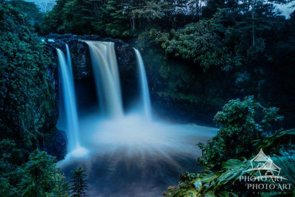 The beautiful Rainbow Falls in the middle of a volcanic rain forrest. That is the Big Island -