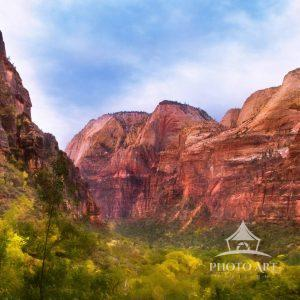 One of the most magnificent views I've ever seen in my life is that of when I first entered Zion