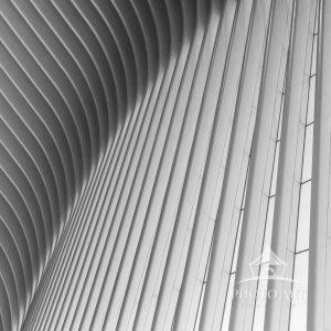 A close up study of the architectural details of the famed Oculus in NYC, adjunct to the Freedom