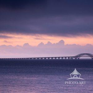 Morning view of the Captree Bridge before the storm