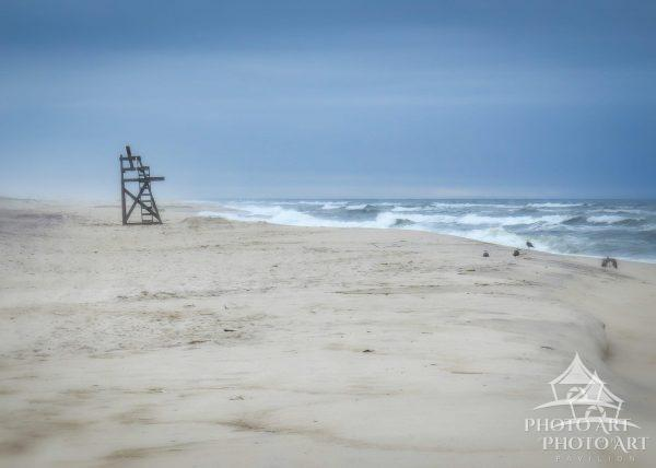Morning solitude along the barrier island beach at Watch Hill Fire Island.