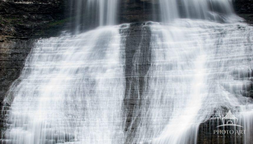 A long exposure of Shaquaga Falls in Montour Falls, New York.