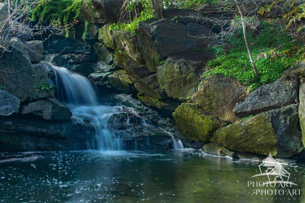 Image of the first waterfall in The Loch in Central Park...