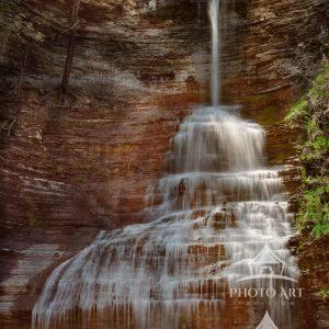 Image of Aunt Sarah's Falls in Montour Falls, New York.