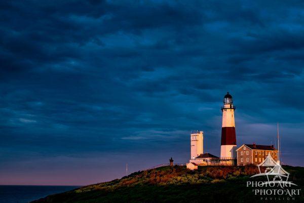 Image of Montauk Point Lighthouse at Dusk.