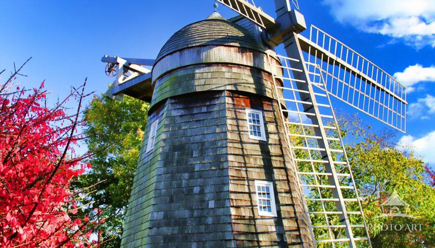 The Beebe Windmill was built in 1820 at Sag Harbor for Lester Beebe. It was moved several times