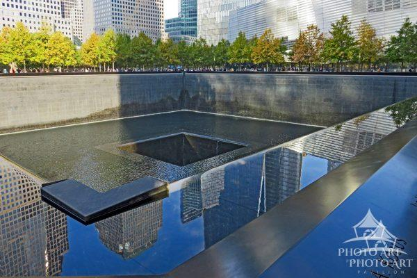 This is one of the two reflecting pools built to honor those killed in the 911 attack. It also