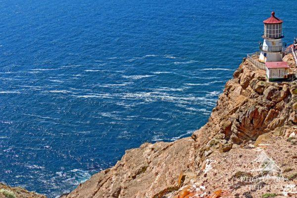 The Point Reyes Lighthouse is on the Gulf of the Farallones on Point Reyes in Point Reyes National
