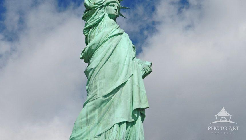 View from below the statue on Liberty Island.