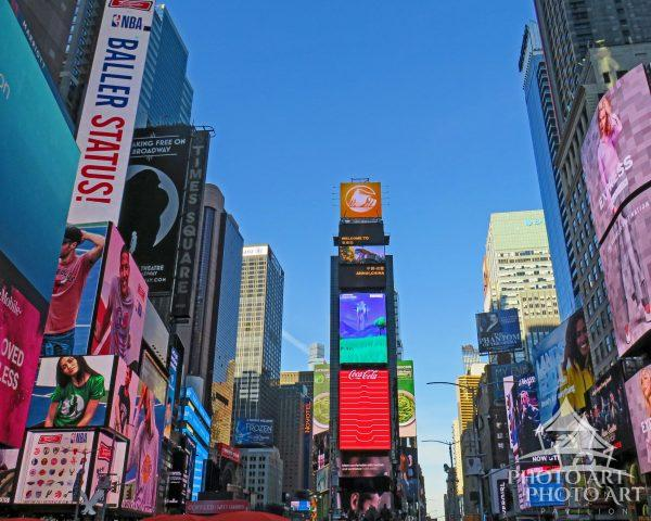This photo depicts one of the most famous sections of NYC and the world.