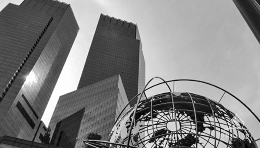 Columbus Circle lends itself to photographing skyscrapers and sculpture in almost every direction.
