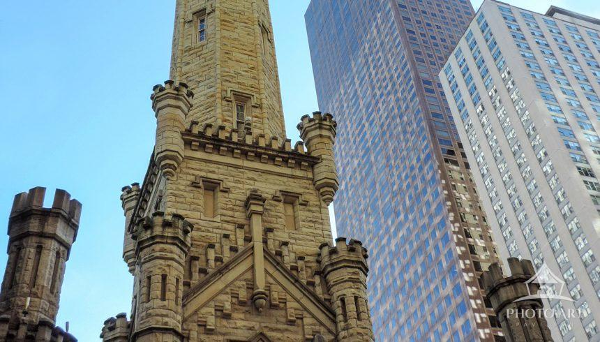 This is a landmark structure on Michigan Avenue, Chicago.