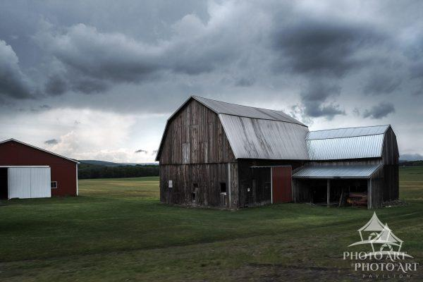 Old barn along the road in the countryside of upstate New York. There are so many of these