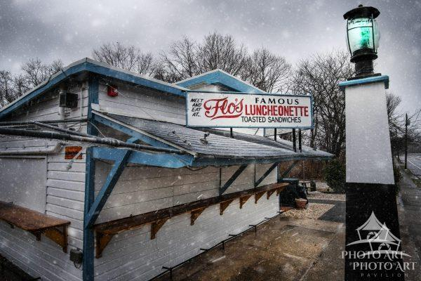 There's always snow in March, even while the Long Island locals wait for the warmer season to
