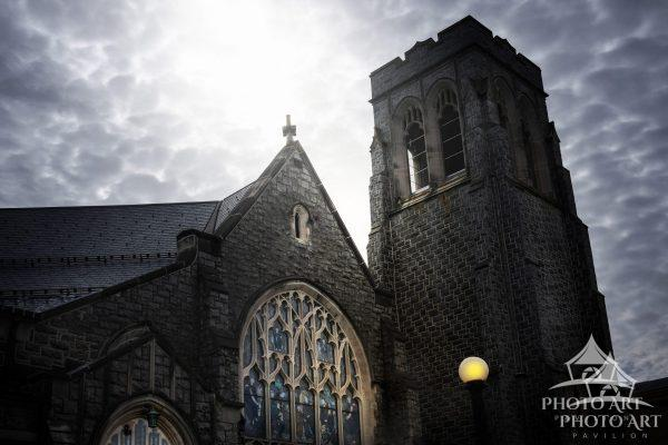 Amazing, old, historical church in a little town in southern New Jersey. Color photograph with