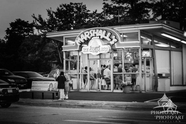 Great little ice-cream stand in Nassau County, NY. Photo has very slight texture like a painting.