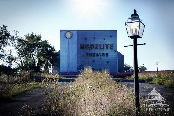 Great old abandoned movie theater in Virginia.