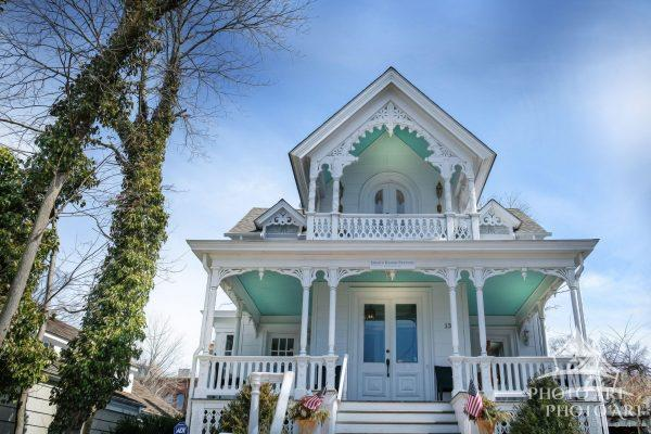 Beautiful old house turned into main street business in Suffolk County, NY. East End, Sag Harbor,