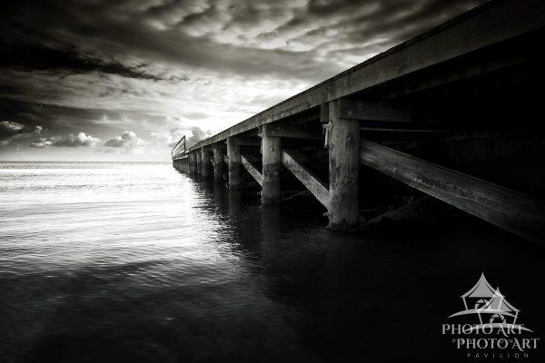 A pier as it stretches out into the Great South Bay can be a lovely sight as spring approaches, and