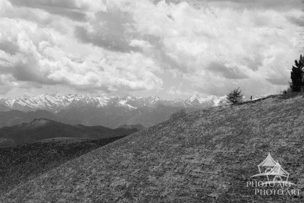 Mountain views of Northern Italy - Black and White