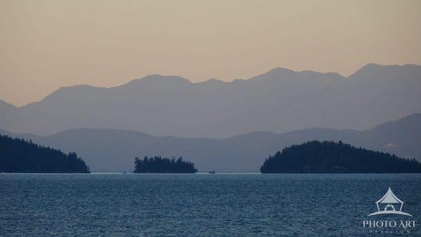 A Hazy Morning on Flathead Lake in Montana.