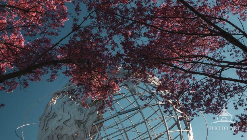 World famous Unisphere in Flushing Meadows Park, Queens New York.
