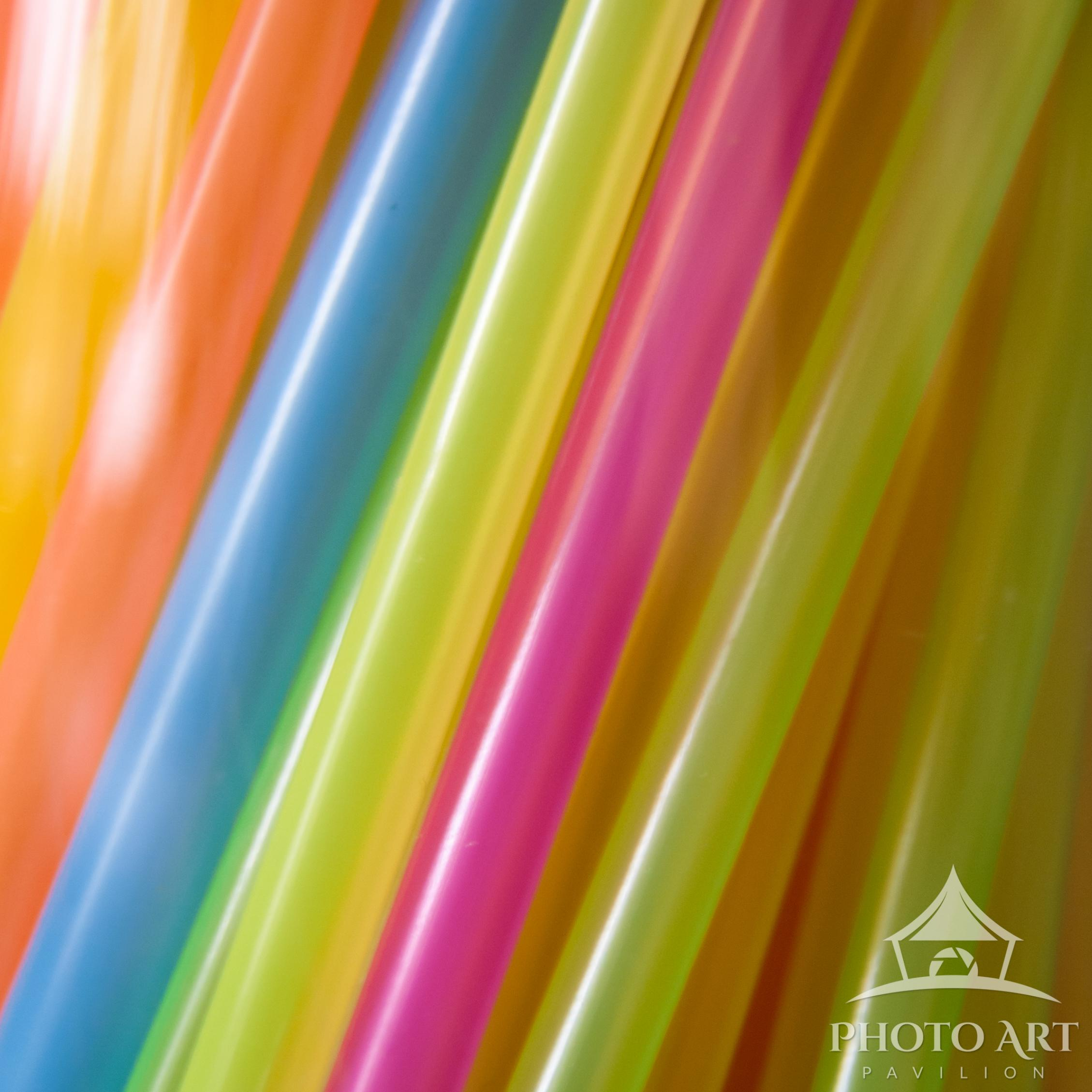 Up-close image of drinking straws.