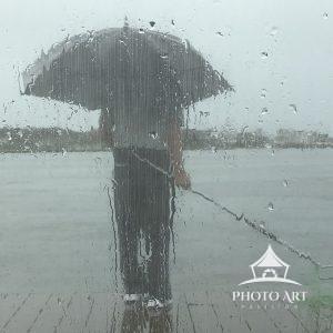 Crabbing in the rain