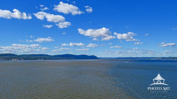 This image was captured from atop the Mario Cuomo Bridge looking north.