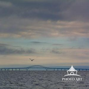Robert Moses Bridge at sunset, taken from East Islip Marina.