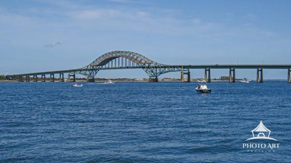 This bridge is the final segment of the Robert Moses Causeway that leads into the Robert Moses State