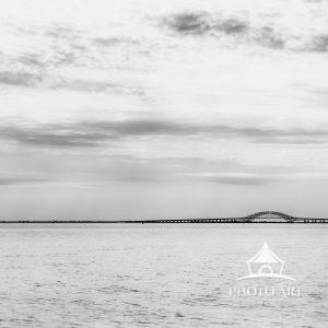 A familiar sight on Long Island, the Robert Moses Causeway, spanning a little over 8 miles across