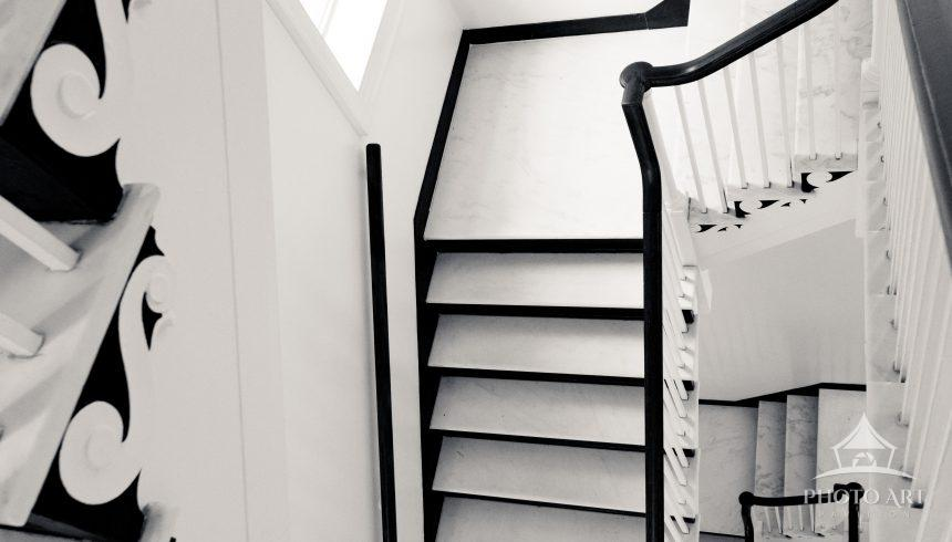 Beautiful staircase in monochrome