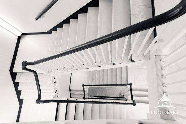 View of the staircase from above.