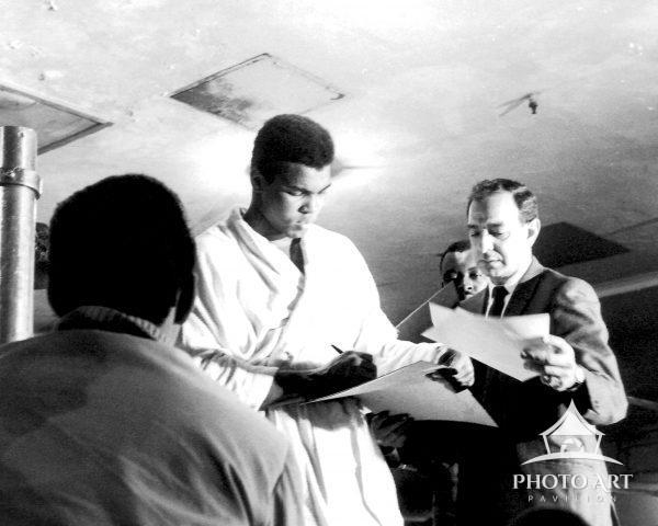 Muhammed Ali in 1967 training in the basement of Madison Square Garden on 8th Avenue and 50th Street