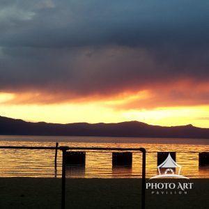 A sunset on Lake Tahoe.