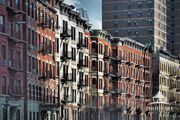 Apartment buildings in Harlem