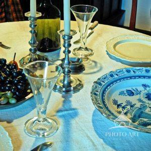 Dining room still life in Huguenot village