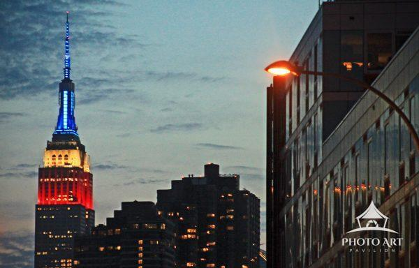 Empire State Building at dusk from Long Island City