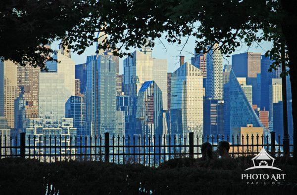 Manhattan skyline from Boulevard East