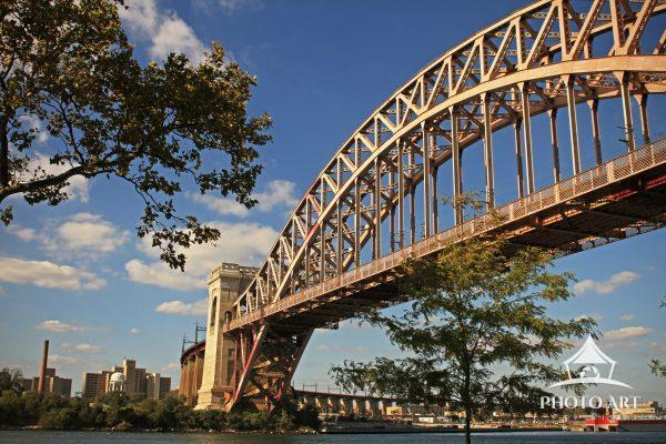 Hell Gate Bridge from Astoria Park