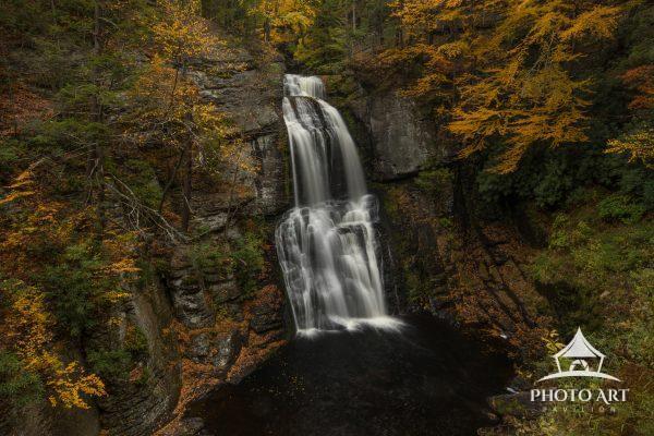Bushkill Falls in autumn.